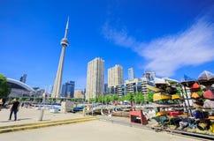 Wielki widok Toronto puszka miasteczka teren, budynku cn wierza Fotografia Royalty Free