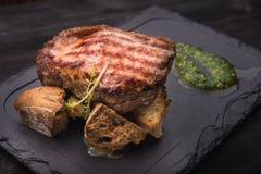 Wielki wieprzowina stek Zdjęcia Royalty Free