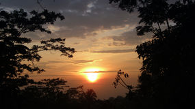 Wielki wschód słońca Zdjęcia Royalty Free