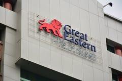Wielki Wschodni życia Signage w Kot Kinabalu, Malezja fotografia stock