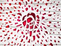 Wielki wybucha czerwony bauble z Rudolph czerwony ostrożnie wprowadzać renifer o zdjęcie stock