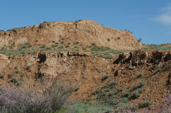 Wielki wzgórze w stepie zdjęcia royalty free