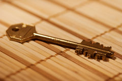 wielki złoto klucz Zdjęcia Stock