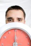 wielki zegar człowiek zaprowadzi young Obrazy Stock