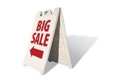 wielki znak namiot sprzedaży Obraz Royalty Free