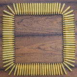 Wielkich kaliberów pocisków kwadratowy tło Fotografia Stock