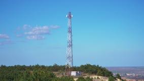 Wielkie anteny na górze zbiory
