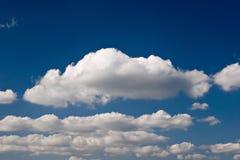 wielkie białe chmury Zdjęcia Stock