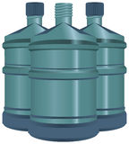 Wielkie butelki woda Fotografia Royalty Free