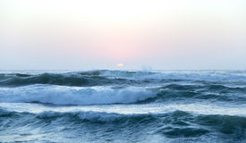Wielkie fala Atlantycki ocean Zdjęcia Royalty Free