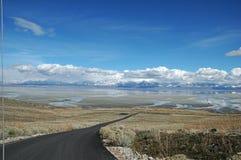 wielkie jeziora soli fotografia royalty free