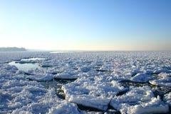 wielkie jeziora zimy. Obraz Royalty Free