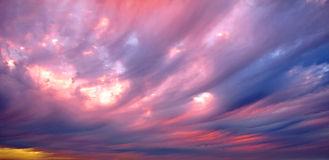wielkie niebo Fotografia Royalty Free