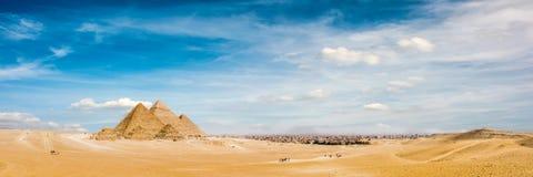 wielkie piramidy w gizie obraz royalty free