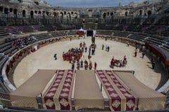 Wielkie Romańskie gry w Nimes, Francja Fotografia Royalty Free