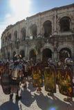 Wielkie Romańskie gry w Nimes, Francja Fotografia Stock