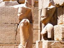 Wielkie ruiny Karnak Fotografia Royalty Free