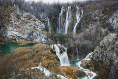 Wielkie siklawy Plitvice jezior park narodowy Obraz Royalty Free