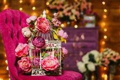 Wielkie sztuczne różowe róże Zdjęcie Royalty Free