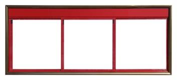 Wielkiego czerwonego miasta ewidencyjny billboard odizolowywający Obrazy Stock