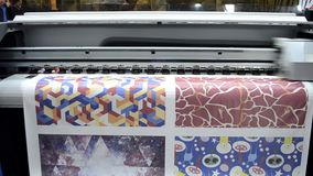 Wielkiego formata drukarki pracy zdjęcie wideo