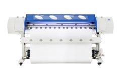 Wielkiego formata inkjet drukarka na bia?ym tle Winylowa wydruk maszyna dla u?ywa w majcheru lub plakata billboarda przemysle fotografia stock