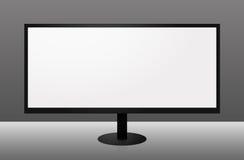 wielkiego formata pokazu monitor z Zdjęcia Royalty Free