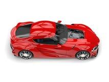 Wielkiego głębokiego wierzchołka puszka boczny widok - czerwony nowożytny super sporta samochód - Obraz Stock