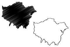 Wielkiego Londyn mapy wektor ilustracja wektor
