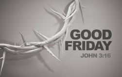 Wielkiego Piątku John 3:16 korona cierni 3D rendering Obrazy Stock