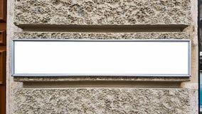 Wielkiego Plenerowego miasta reklamy billboarda sztandaru znaka Miastowy Biały Pusty egzamin próbny W górę Odosobniona szablonu ś zdjęcia stock