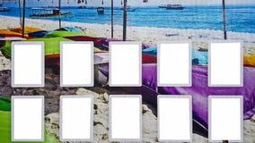 Wielkiego Plenerowego miasta reklamy billboarda sztandaru znaka Miastowy Biały Pusty egzamin próbny W górę Odosobniona szablonu ś fotografia royalty free