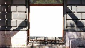 Wielkiego Pustego reklama sztandaru znaka ścinku ścieżki reklamy szablonu Miastowy Jawny Biały Odosobniony egzamin próbny W górę obraz royalty free