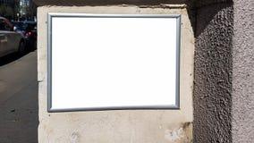 Wielkiego Pustego reklama sztandaru znaka ścinku ścieżki reklamy szablonu Miastowy Jawny Biały Odosobniony egzamin próbny W górę fotografia stock