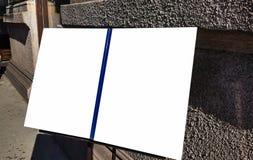 Wielkiego Pustego reklama sztandaru znaka ścinku ścieżki reklamy szablonu Miastowy Jawny Biały Odosobniony egzamin próbny W górę obraz stock