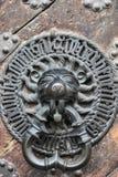 Wielkiego ratuszu Lionhead Drzwiowy Knocker Zdjęcia Royalty Free