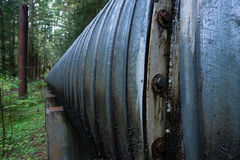 Wielkiego rurociąg przemysłu budowy Przemysłowy Fajczany wiadukt Obraz Stock