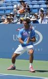 Wielkiego Szlema mistrz i profesjonalisty gracz w tenisa Juan Martin Del Potro ćwiczymy dla us open 2013 Obrazy Royalty Free