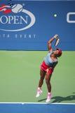 Wielkiego Szlema mistrz Serena Williams podczas ćwierćfinał kopii dopasowywa przy us open 2014 Obrazy Royalty Free