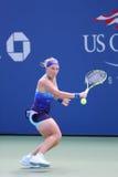 Wielkiego Szlema mistrz Svetlana Kuznetsova od Rosja podczas us open 2014 round dopasowania najpierw Obrazy Stock