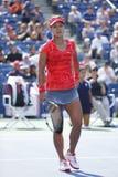 Wielkiego Szlema mistrza Na Li podczas ćwierćfinału dopasowania przy us open 2013 przeciw Ekaterina Makarova Fotografia Royalty Free