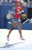 Wielkiego Szlema mistrza Na Li podczas ćwierćfinału dopasowania przy us open 2013 przeciw Ekaterina Makarova Zdjęcie Royalty Free