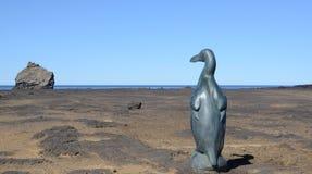Wielkiej alki rzeźba stawia czoło Eldey wyspę zdjęcie royalty free