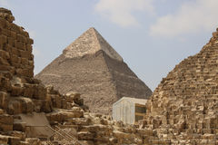 wielkiej piramidy w gizie cairo Egipt Fotografia Stock
