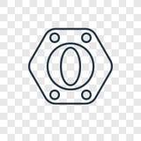 Wielkości pojęcia wektorowa liniowa ikona odizolowywająca na przejrzystym bac ilustracja wektor