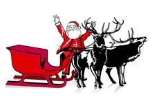wielkoduszny Santa bardzo był ilustracji
