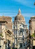 Wielkomiejska katedra święty Agatha w Catania, Włochy Zdjęcie Stock