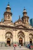 Wielkomiejska katedra Santiago Obrazy Stock