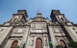 Wielkomiejska katedra w Meksyk obraz stock