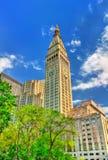 Wielkomiejski życia wierza, historyczny drapacz chmur w Manhattan, Miasto Nowy Jork Budujący w 1909 Zdjęcie Stock